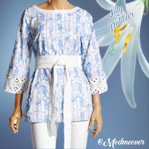 Lilly Pulitzer Jubilee Embroidered Belted Tunic
